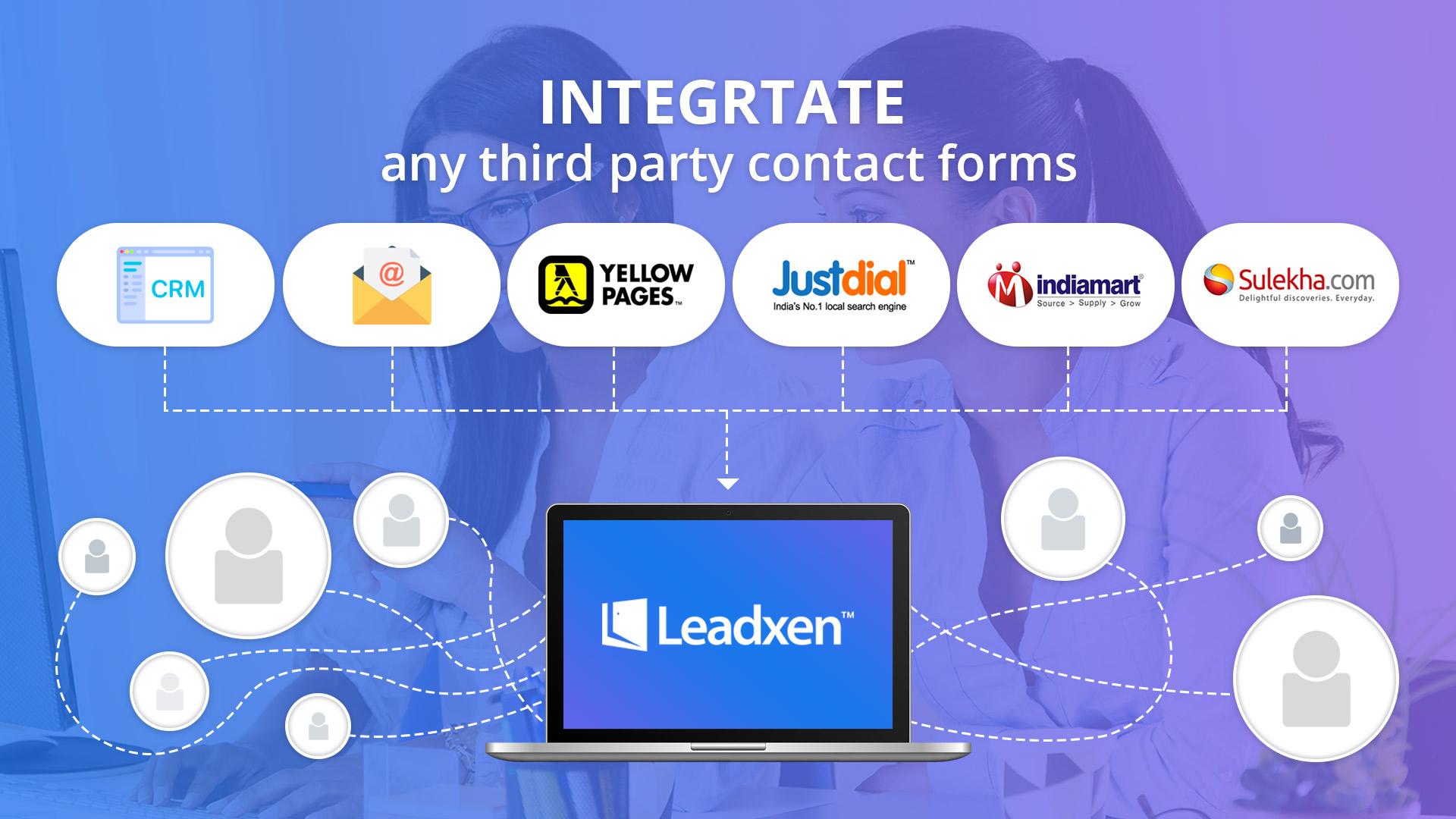 leadxen crm third party contact form