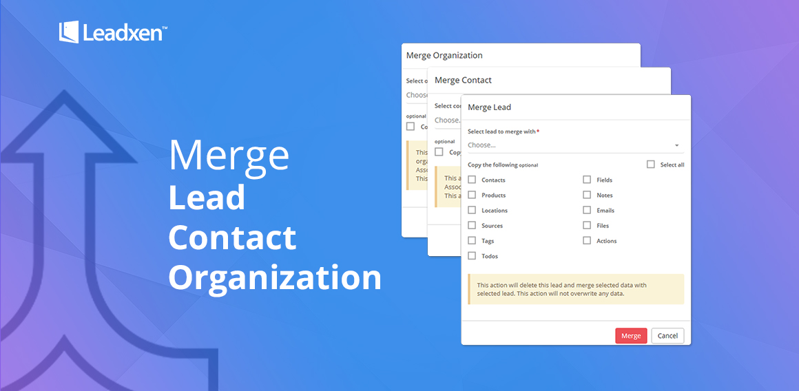 Merge Leads Contacts Leadxen