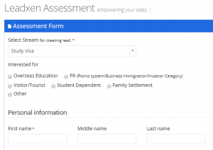 Leadxen Immigration Assessment Form